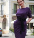 Rochie Casual Mov Din Bumbac Joa