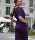 rochie-casual-mov-din-bumbac-cu-accesorizari-din-satin-negru (3)