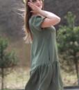 rochie-kaki-prafuit-lejera-cu-maneca-scurta (6)
