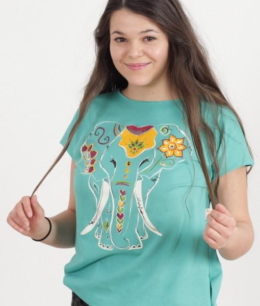 tricou-aqua-despicat-pe-lateral-imprimeu-elefant (6)