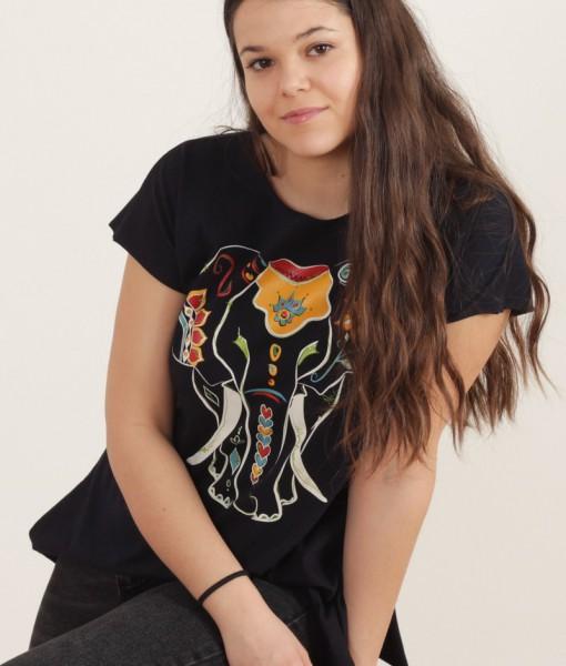 Tricou Bleumarin Cu Imprimeu Elefant Joa