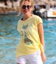 tricou-galben-despicat-pe-lateral-cu-pisica-etnica