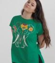 tricou-verde-despicat-pe-lateral-imprimeu-elefant (2)