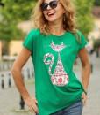 tricou-verde-despicat-pe-lateralcu-pisica-romaneasca (2)