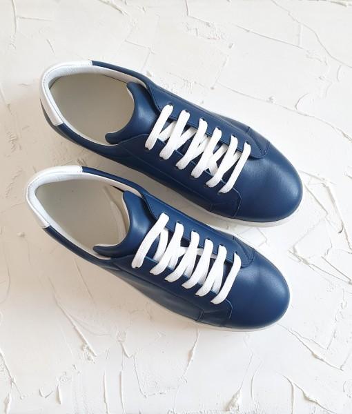 Tenisi Navy – Blue – piele naturala
