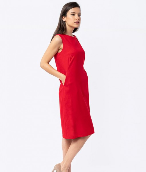 Rochie Sarafan Lungime Midi Din In Couture de Marie