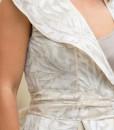 Rochie feminina, cu asimetrii, crem, Alessa