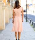 Rochie eleganta in A, roz pudra, Felicita