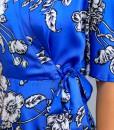 Rochie de vara, petrecuta, albastra, Joie