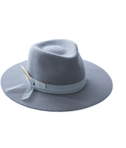 Pălărie Fedora Nude & Gold Din Fetru De Iepure – D92