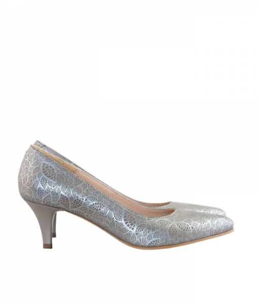 Pantofi dama cu toc din piele naturala, Fabia