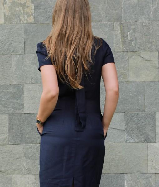 rochie-cu-maneca-scurta-din-in-bleumarin (2)