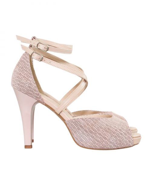 Sandale Cu Toc Din Piele Naturala Diane Marie