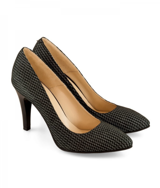 Pantofi Office Din Piele Naturala Neagra Diane Marie