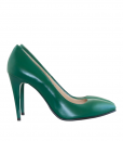 Pantofi Stiletto Din Piele Naturala Verde Diane Marie