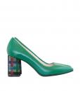 Pantofi Dama Cu Toc Comod Din Piele Naturala Diane Marie