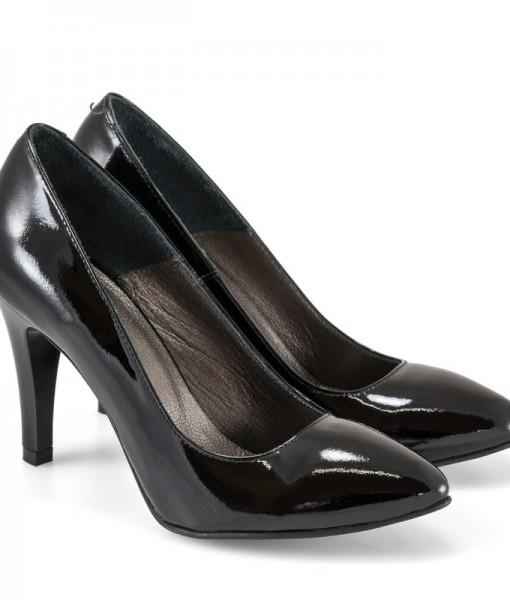 Pantofi Dama Stiletto Negri Din Piele Diane Marie