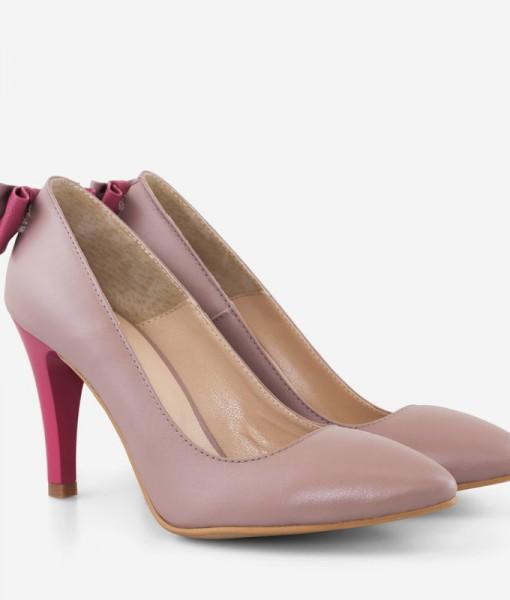 Pantofi Stiletto Cu Funda la Spate Din Piele Diane Marie