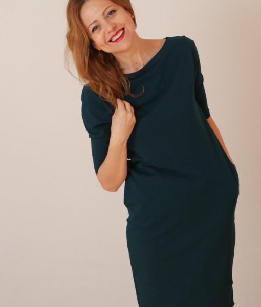 rochie-casual-albastru-petrol-din-bumbac-cu-buzunare (5)