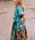 rochie-de-ocazie-din-material-satinat-imprimat-predominant-turcoaz (4)