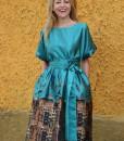 rochie-de-ocazie-din-material-satinat-imprimat-predominant-turcoaz (6)