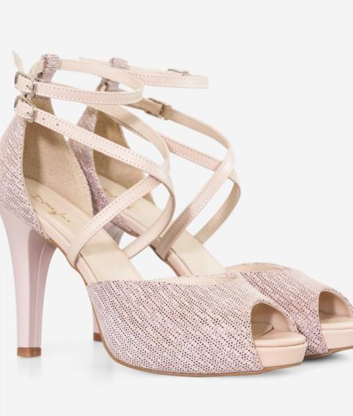 Sandale Din Piele Naturala Nude Diane Marie