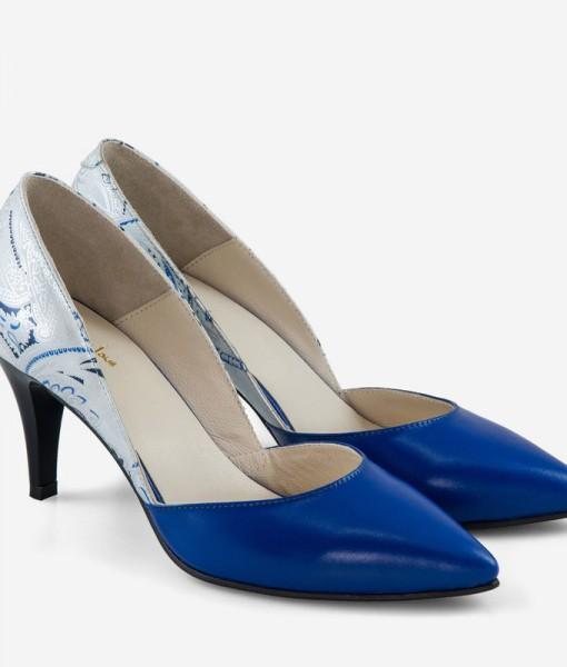 Pantofi Stiletto Decupati Din Piele Naturala Diane Marie