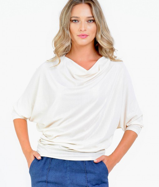 Bluza Dama Alba Maneca Midi Natalee (3)