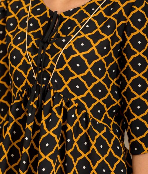 Bluza Dama Cordon In Talie-Detaliu